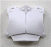 "Armor Chest Plate: WHITE Version - 1:18 Scale Modular MTF Accessory for 3-3/4"" Action Figures"