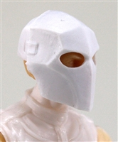 "Armor Mask: WHITE Version - 1:18 Scale Modular MTF Accessory for 3-3/4"" Action Figures"