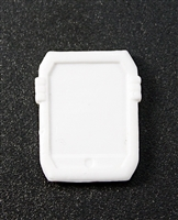 Smartpad / Computer Tablet: WHITE Version - 1:18 Scale MTF Accessory for 3 3/4 Inch Action Figures