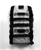 "Backpack: Modular Backpack  WHITE & BLACK Version - 1:18 Scale Modular MTF Accessory for 3-3/4"" Action Figures"