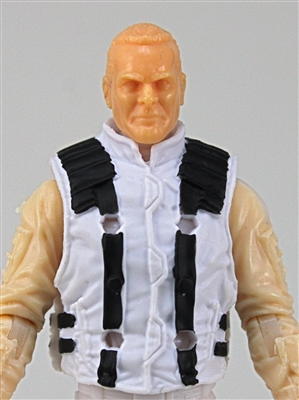 "Male Vest: Model 86 Type WHITE Version - 1:18 Scale Modular MTF Accessory for 3-3/4"" Action Figures"