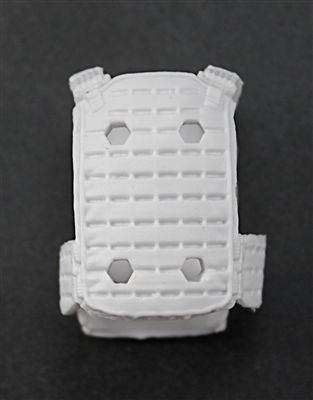 "Male Vest: Plate Carrier Type WHITE Version - 1:18 Scale Modular MTF Accessory for 3-3/4"" Action Figures"