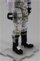 "Male Legs: White Camo Cloth Legs (NO Armor) -  Right AND Left Pair WITH WAIST  - 1:18 Scale MTF Accessory for 3-3/4"" Action Figures"