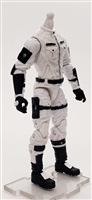 "MTF Male Trooper Body WITHOUT Head WHITE with BLACK ""Ghost-Ops"" CLOTH Legs (No Leg Armor) - 1:18 Scale Marauder Task Force Action Figure"