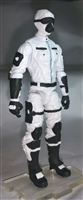 "MTF Male Trooper with Masked Goggles & Breather Head WHITE ""Ghost-Ops"" Version BASIC - 1:18 Scale Marauder Task Force Action Figure"