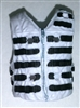 "Male Vest: Tactical Type WHITE with Black Version - 1:18 Scale Modular MTF Accessory for 3-3/4"" Action Figures"