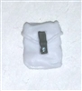 "Pocket: Small Size WHITE with Black Version - 1:18 Scale Modular MTF Accessory for 3-3/4"" Action Figures"
