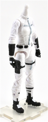 "MTF Female Valkyries Body WITHOUT Head WHITE & BLACK ""Ghost-Ops"" Version BASIC - 1:18 Scale Marauder Task Force Action Figure"