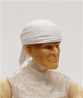 "Headgear: ""Bandana"" Head Cover WHITE Version - 1:18 Scale Modular MTF Accessory for 3-3/4"" Action Figures"