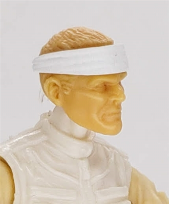 "Headgear: Headband WHITE Version - 1:18 Scale Modular MTF Accessory for 3-3/4"" Action Figures"
