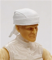 "Headgear: ""Do-Rag"" Head Cover WHITE Version - 1:18 Scale Modular MTF Accessory for 3-3/4"" Action Figures"