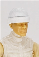 "Headgear: Knit Cap ""Ski Cap"" WHITE Version - 1:18 Scale Modular MTF Accessory for 3-3/4"" Action Figures"