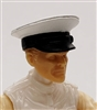 "Headgear: Officer Cap ""Dress Hat"" WHITE Version - 1:18 Scale Modular MTF Accessory for 3-3/4"" Action Figures"