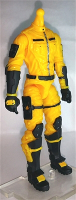 "MTF Male Trooper Body WITHOUT Head YELLOW ""Shock-Ops"" Version BASIC - 1:18 Scale Marauder Task Force Action Figure"
