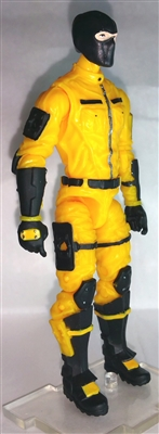 "MTF Male Trooper with Balaclava Head YELLOW ""Shock-Ops"" Version BASIC - 1:18 Scale Marauder Task Force Action Figure"