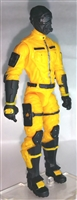 "MTF Male Trooper with Masked Goggles & Breather Head YELLOW ""Shock-Ops"" Version BASIC - 1:18 Scale Marauder Task Force Action Figure"