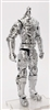 "MTF Male Trooper Body WITHOUT Head SILVER ""Kronos-Ops"" Armor Leg Version BASIC - 1:18 Scale Marauder Task Force Action Figure"