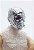 "Male Head: Mask with Goggles & Breather SILVER Version - 1:18 Scale MTF Accessory for 3-3/4"" Action Figures"