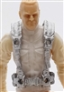 "Male Vest: Harness Rig SILVER Version - 1:18 Scale Modular MTF Accessory for 3-3/4"" Action Figures"