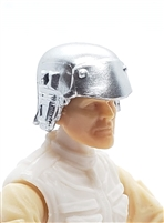 "Headgear: Armor Helmet SILVER Version - 1:18 Scale Modular MTF Accessory for 3-3/4"" Action Figures"