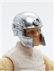 "Headgear: Tactical Helmet SILVER Version - 1:18 Scale Modular MTF Accessory for 3-3/4"" Action Figures"
