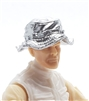 "Headgear: Boonie Hat SILVER Version - 1:18 Scale Modular MTF Accessory for 3-3/4"" Action Figures"