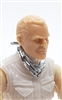 "Headgear: Standard Neck Scarf SILVER Version - 1:18 Scale Modular MTF Accessory for 3-3/4"" Action Figures"