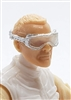"Headgear: Standard Goggles SILVER Version with CLEAR Tint Lenses   - 1:18 Scale Modular MTF Accessory for 3-3/4"" Action Figures"