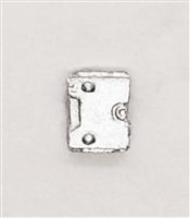 "Armor Panel: Small Size SILVER Version - 1:18 Scale Modular MTF Accessory for 3-3/4"" Action Figures"