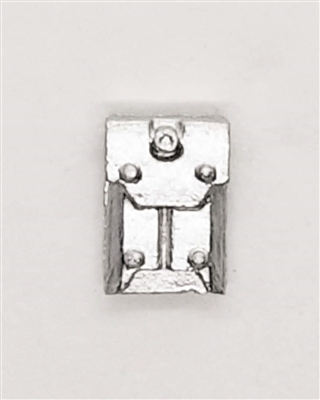 "Armor Panel: Large Size SILVER Version - 1:18 Scale Modular MTF Accessory for 3-3/4"" Action Figures"