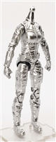 "MTF Female Valkyries Body WITHOUT Head SILVER ""Kronos-Ops"" Version BASIC - 1:18 Scale Marauder Task Force Action Figure"