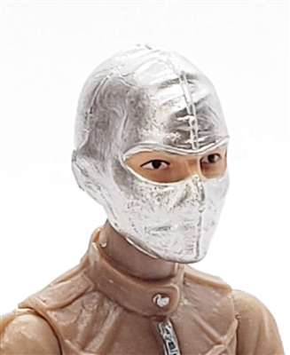 "Female Head: Balaclava Mask SILVER Version - 1:18 Scale MTF Valkyries Accessory for 3-3/4"" Action Figures"
