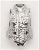 "Female Vest: High Collar Type SILVER Version - 1:18 Scale Modular MTF Valkyries Accessory for 3-3/4"" Action Figures"