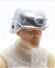 "Headgear: LWH Combat Helmet SILVER Version - 1:18 Scale Modular MTF Accessory for 3-3/4"" Action Figures"