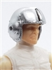 "Headgear: SILVER Flight Helmet - 1:18 Scale Modular MTF Accessory for 3-3/4"" Action Figures"