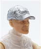 "Headgear: Baseball Cap SILVER Version - 1:18 Scale Modular MTF Accessory for 3-3/4"" Action Figures"