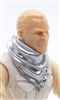 "Headgear: Large Neck Scarf ""Shemagh"" SILVER Version - 1:18 Scale Modular MTF Accessory for 3-3/4"" Action Figures"