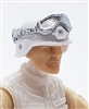 "Headgear: Large Goggles SILVER Version - 1:18 Scale Modular MTF Accessory for 3-3/4"" Action Figures"