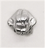 "Headgear: Helmet Mounting Plug for NVG Goggles SILVER Version - 1:18 Scale Modular MTF Accessory for 3-3/4"" Action Figures"