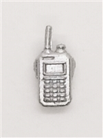 Radio Walkie Talkie: SILVER Version - 1:18 Scale MTF Accessory for 3 3/4 Inch Action Figures