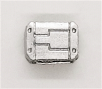 "MOUNT for Ammo Belt: ALL SILVER Version - 1:18 Scale Modular MTF Accessory for 3-3/4"" Action Figures"