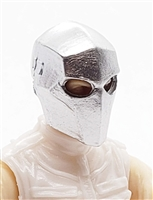 "Armor Mask: SILVER Version - 1:18 Scale Modular MTF Accessory for 3-3/4"" Action Figures"