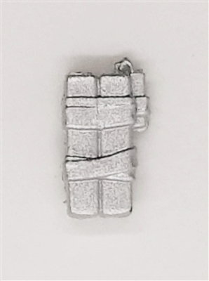 C4 Explosive Bundle: SILVER with SILVER Tape Version - 1:18 Scale MTF Accessory for 3 3/4 Inch Action Figures