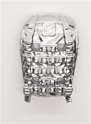 "Backpack: Modular Backpack SILVER Version - 1:18 Scale Modular MTF Accessory for 3-3/4"" Action Figures"