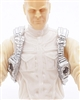 "Male Vest: Shoulder Rig SILVER Version - 1:18 Scale Modular MTF Accessory for 3-3/4"" Action Figures"