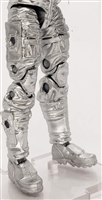 "Male Legs: SILVER Cloth Legs (NO Armor) - Right AND Left Pair-NO WAIST-LEGS ONLY - 1:18 Scale MTF Accessory for 3-3/4"" Action Figures"