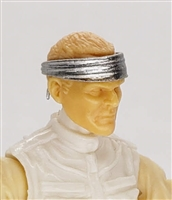 "Headgear: Headband SILVER Version - 1:18 Scale Modular MTF Accessory for 3-3/4"" Action Figures"