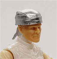 "Headgear: ""Do-Rag"" Head Cover SILVER Version - 1:18 Scale Modular MTF Accessory for 3-3/4"" Action Figures"