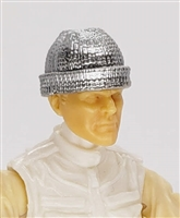 "Headgear: Knit Cap ""Ski Cap"" SILVER Version - 1:18 Scale Modular MTF Accessory for 3-3/4"" Action Figures"