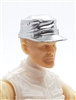 "Headgear: Fatigue Cap SILVER Version - 1:18 Scale Modular MTF Accessory for 3-3/4"" Action Figures"